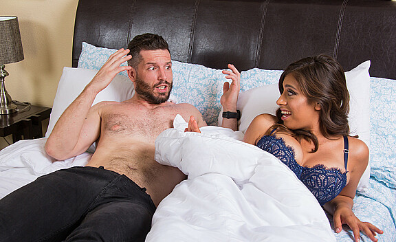 Brunette Ella Knox fucking in the bed with her bubble butt - Sex Position #4