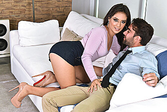Jynx Maze fucking in the couch with her bubble butt - Sex Position 1