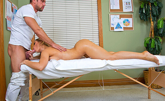Nicole Aniston fucking in the massage table with her tits - Sex Position #6