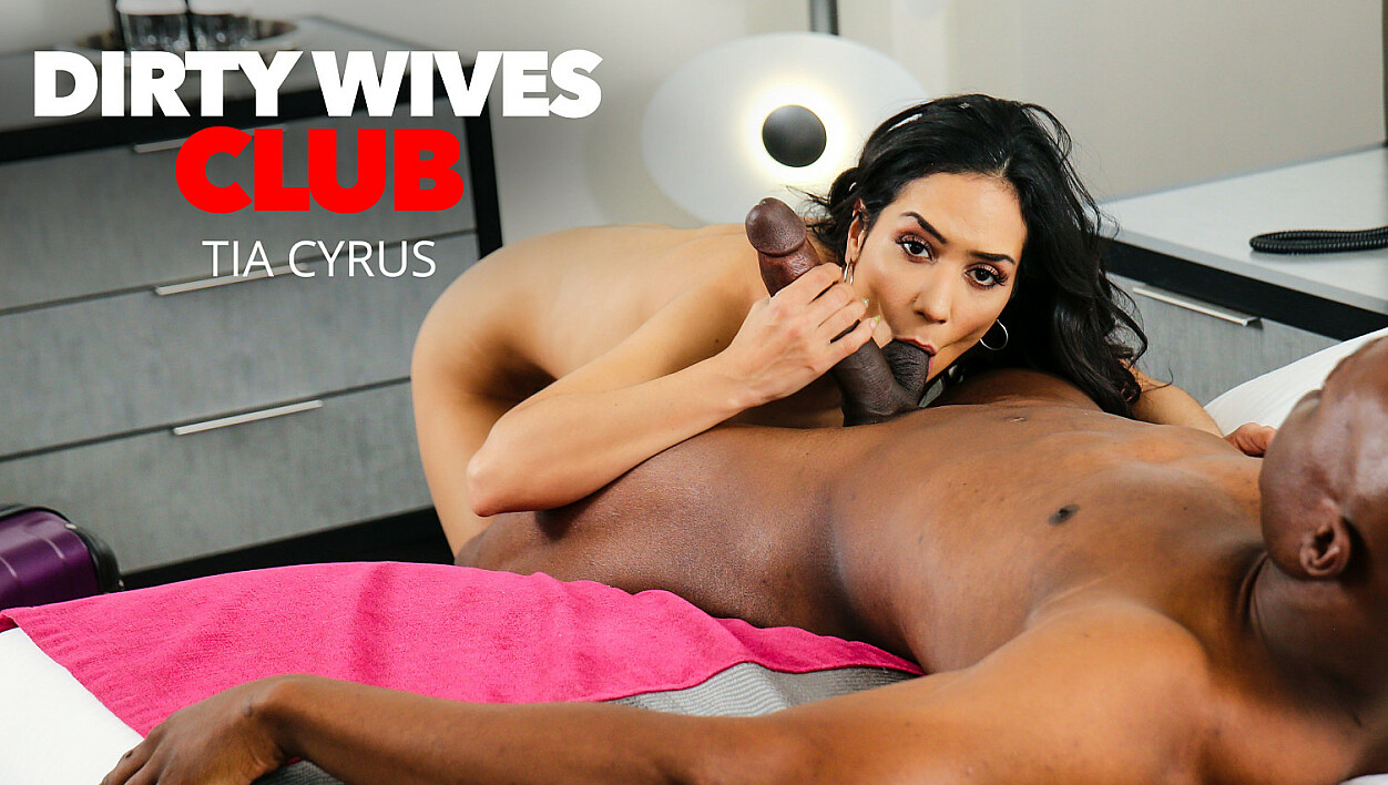 Tia Cyrus has permission from husband to fuck whomever when she's away on business