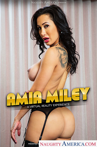 Watch Amia Miley enjoy some American and Athletic Body!