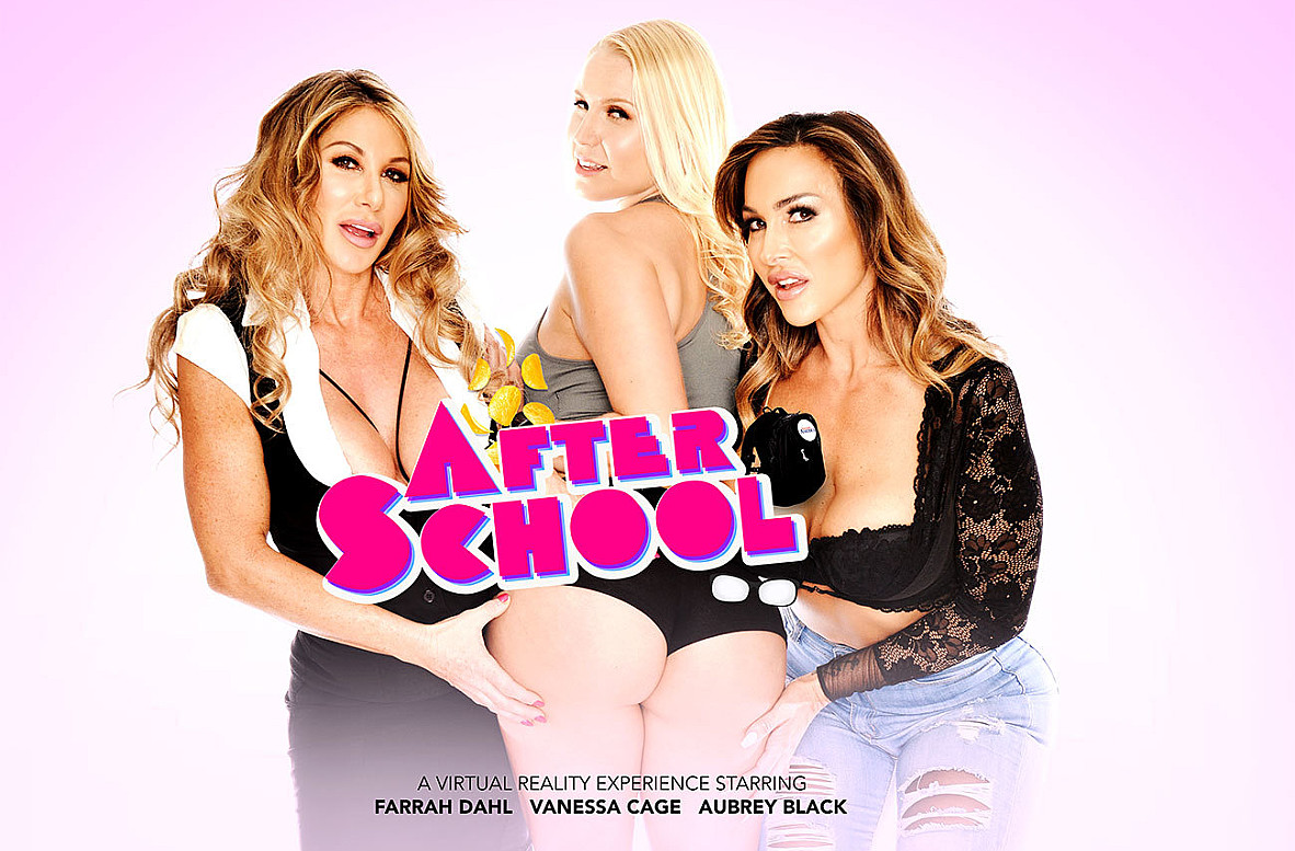Watch Aubrey Black, Farrah Dahl, Vanessa Cage and Bambino VR video in Naughty America