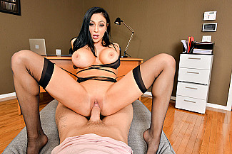 Audrey Bitoni fucking in the office with her tits vr porn - Sex Position 4