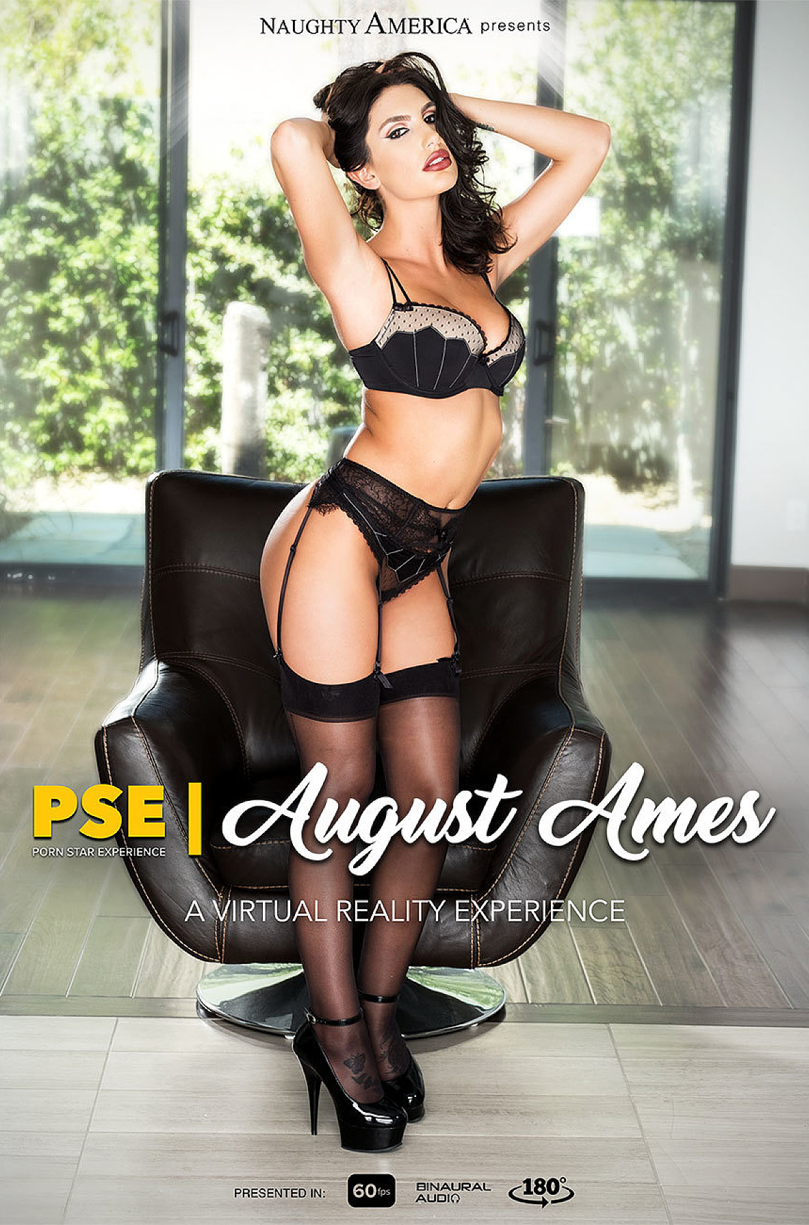 Watch August Ames and Ryan Driller VR video in Naughty America