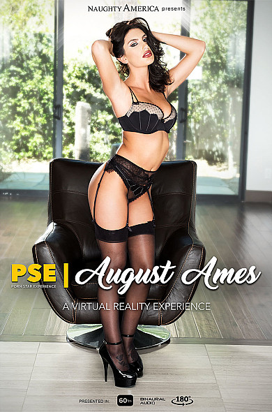 Watch August Ames enjoy some American and Big Natural Tits!