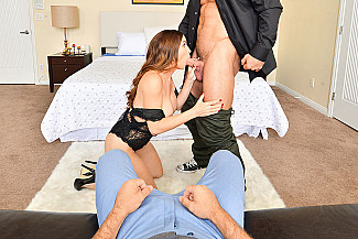 Two Dicks, One Wife: Your Wife Diamond Foxxx in VR Porn - Sex Position 1