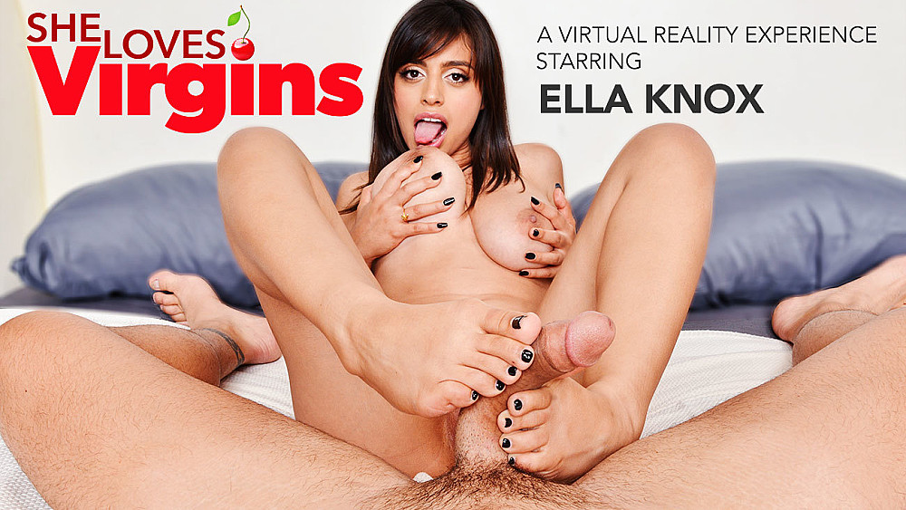 Click here to play Ella Knox knocks you down with her big knockers in VR porn VR porn
