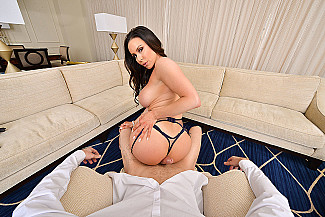 Kendra Lust fucking in the couch with her tits vr porn - Sex Position 2