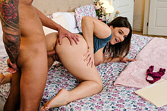 Natasha Nice takes a dick to the tits from a man she just met - Sex Position 3