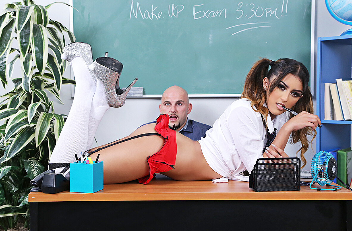 Watch Sophia Leone and JMac 4K video in Naughty Bookworms