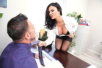 Sex Sells, & Busty Saleswoman Jasmine Jae's Clients Prove It - Sex Position 1