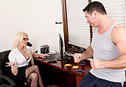 Victoria White & John Strong in Naughty Office