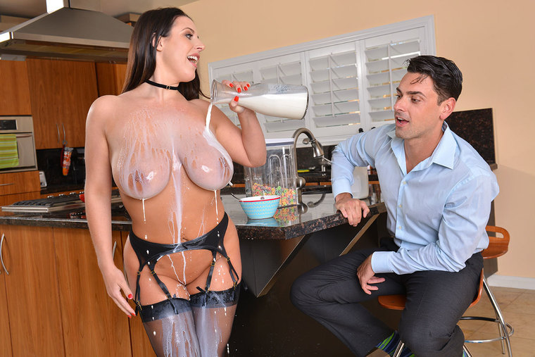Angela White fucking in the dining room with her bubble butt