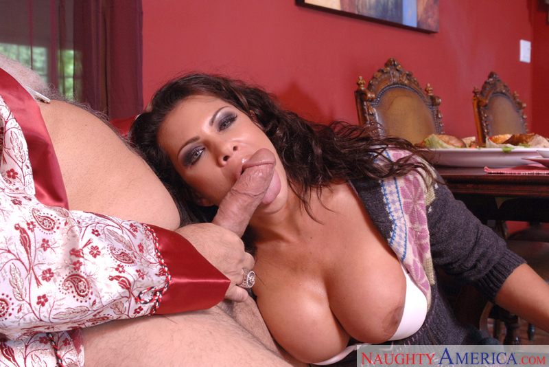 MILF Teri Weigel fucking in the living room with her tits - Sex Position 2