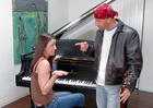 Kelli Tyler fucking in the piano with her piercings - Sex Position 1