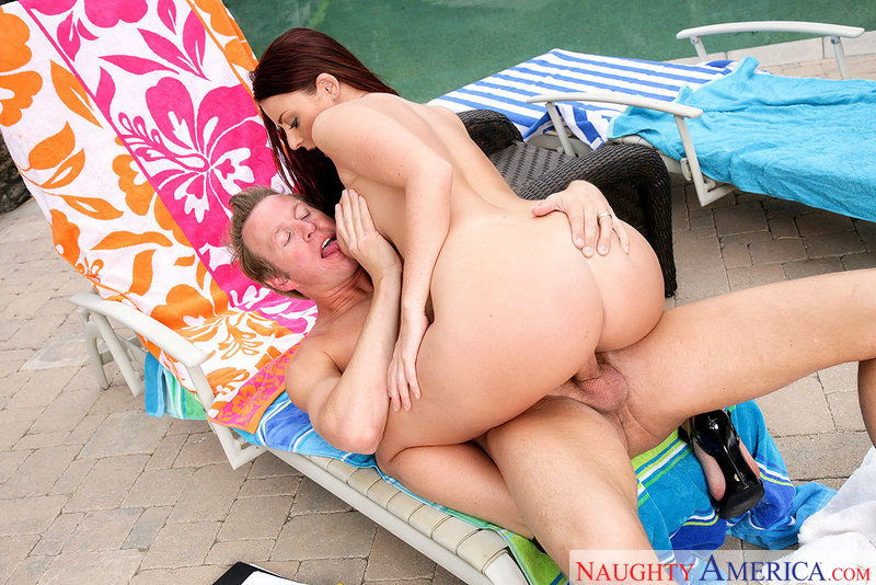 Bad girl Sophie Dee fucking in the patio with her big tits - Sex Position 3