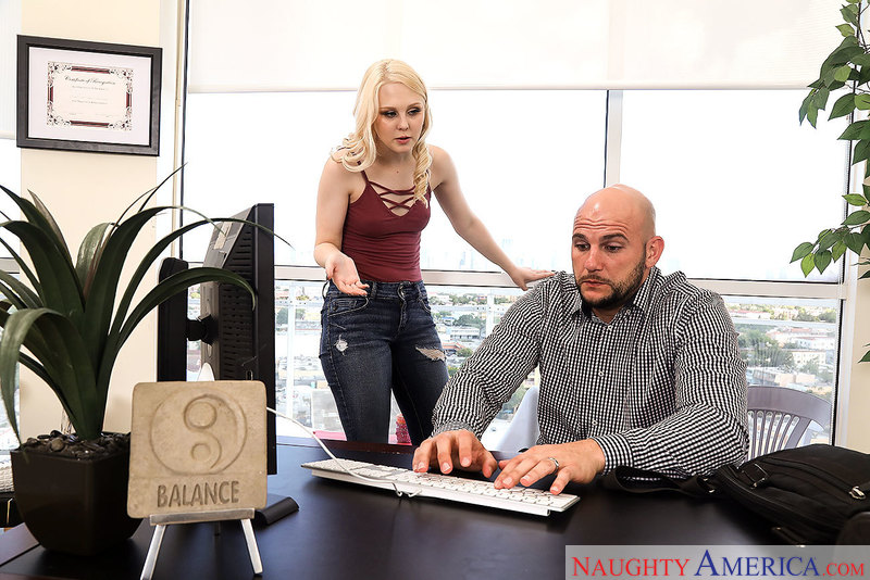 Lily Rader fucking in the office with her bubble butt - Sex Position 1