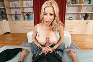 Alexis Fawx fucking in the couch with her tits - Sex Position 2