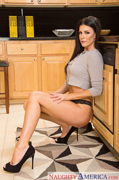 India Summer fucking in the table with her medium ass