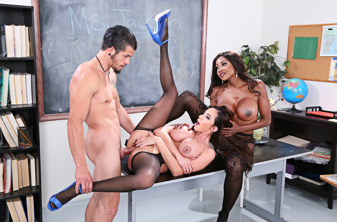 Watch Ariella Ferrera, Diamond Jackson and Bambino 4K video in My First Sex Teacher