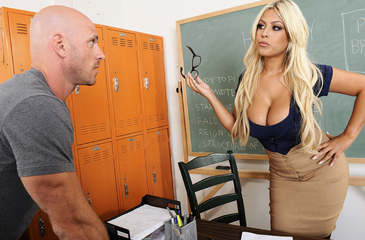 Watch Bridgette B. and Johnny Sins video in My First Sex Teacher