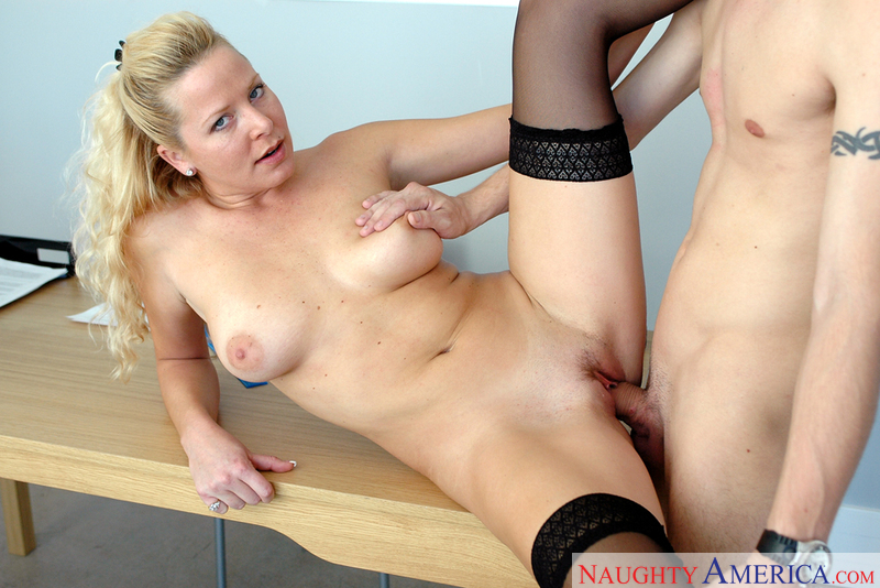 Mrs. Andrews Porn - ... Jacy Andrews fucking in the desk with her glasses - Blowjob ...