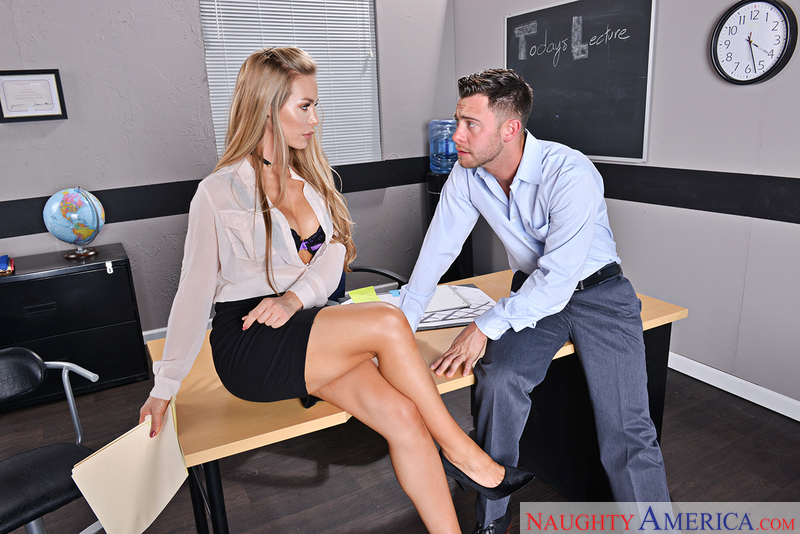 Nicole Aniston fucking in the desk with her medium ass - Sex Position 2
