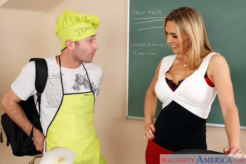 Tanya Tate fucking in the classroom with her piercings - Sex Position 1