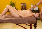 Alex Chance fucking in the massage table with her big tits - Blowjob