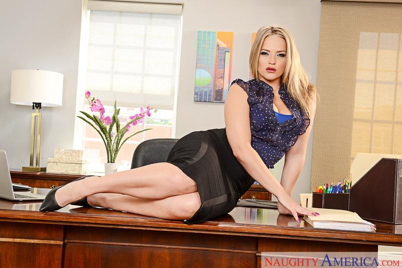 Secretary big tits fucked on desk think