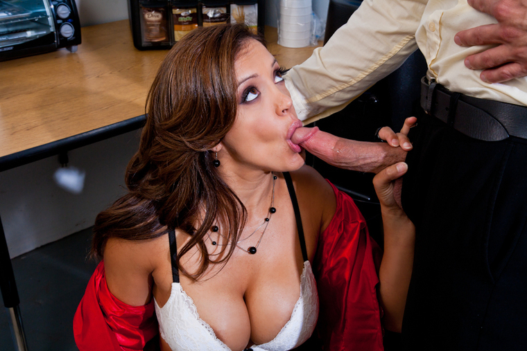 Francesca Le fucking in the break room with her tits