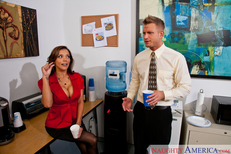 Francesca Le fucking in the break room with her tits - Sex Position 1