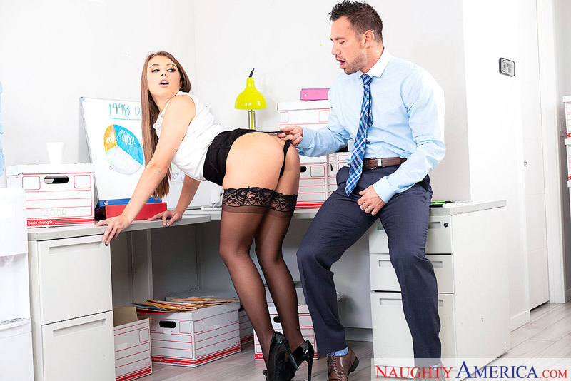 Gia Derza hates office jobs, but loves sucking office cock - Sex Position 1