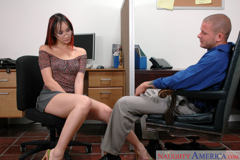 Petite Katsuni fucking in the office with her glasses - Sex Position 1