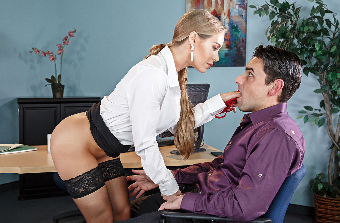 Watch Nicole Aniston and Ryan Driller 4K video in Naughty Office