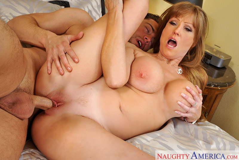 Cougar Darla Crane fucking in the bed with her big tits - Sex Position 3